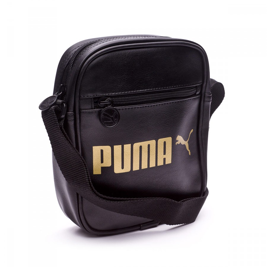 f6f6152c810 Shoulder Bag Puma Campus Portable Black-Metallic gold - Football ...