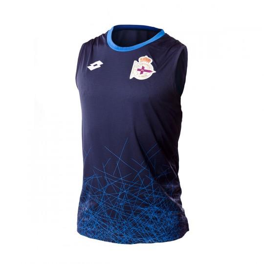 ab55c4082 Jersey Lotto RC Deportivo de la Coruña Training 2016-2017 Navy-Blue -  Football store Fútbol Emotion