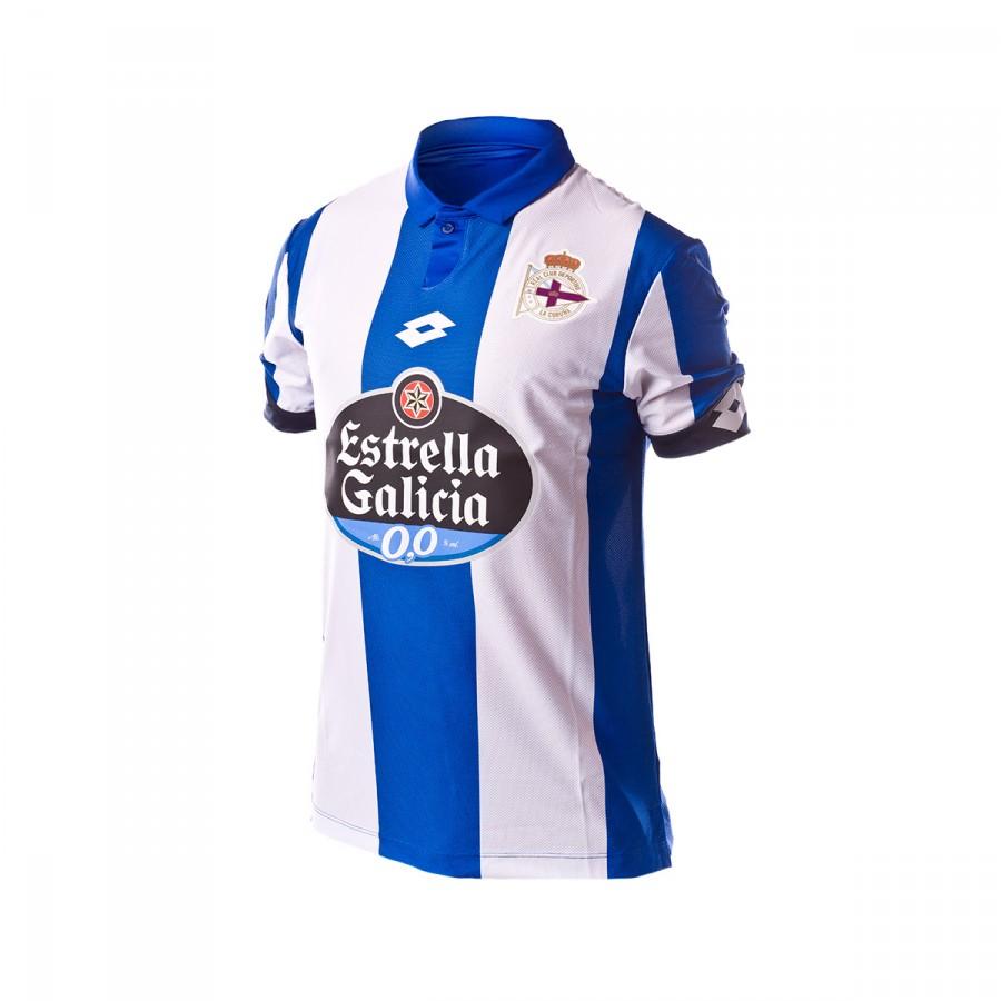 9800147d1 Jersey Lotto RC Deportivo de la Coruña Home 2016-2017 Royal-White ...