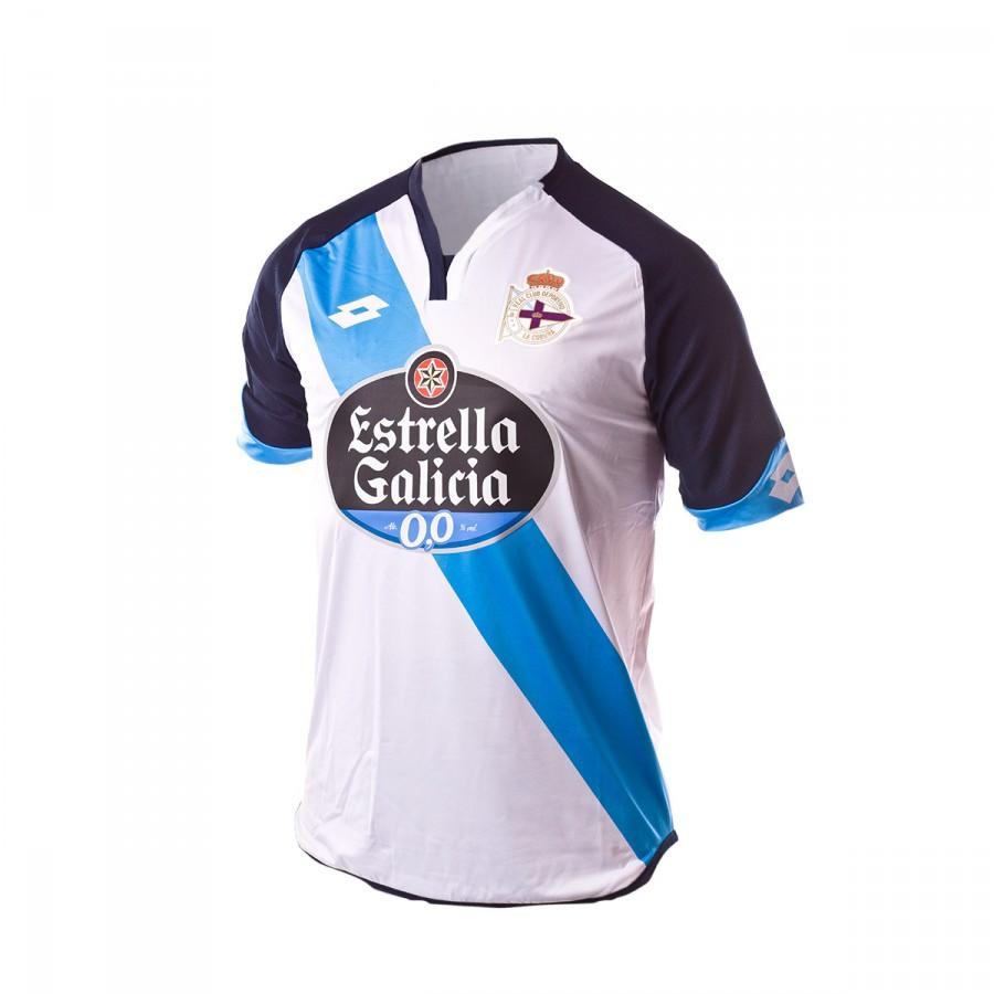 38554e9c2 Jersey Lotto RC Deportivo de la Coruña Away 2016-2017 White-Blue ...