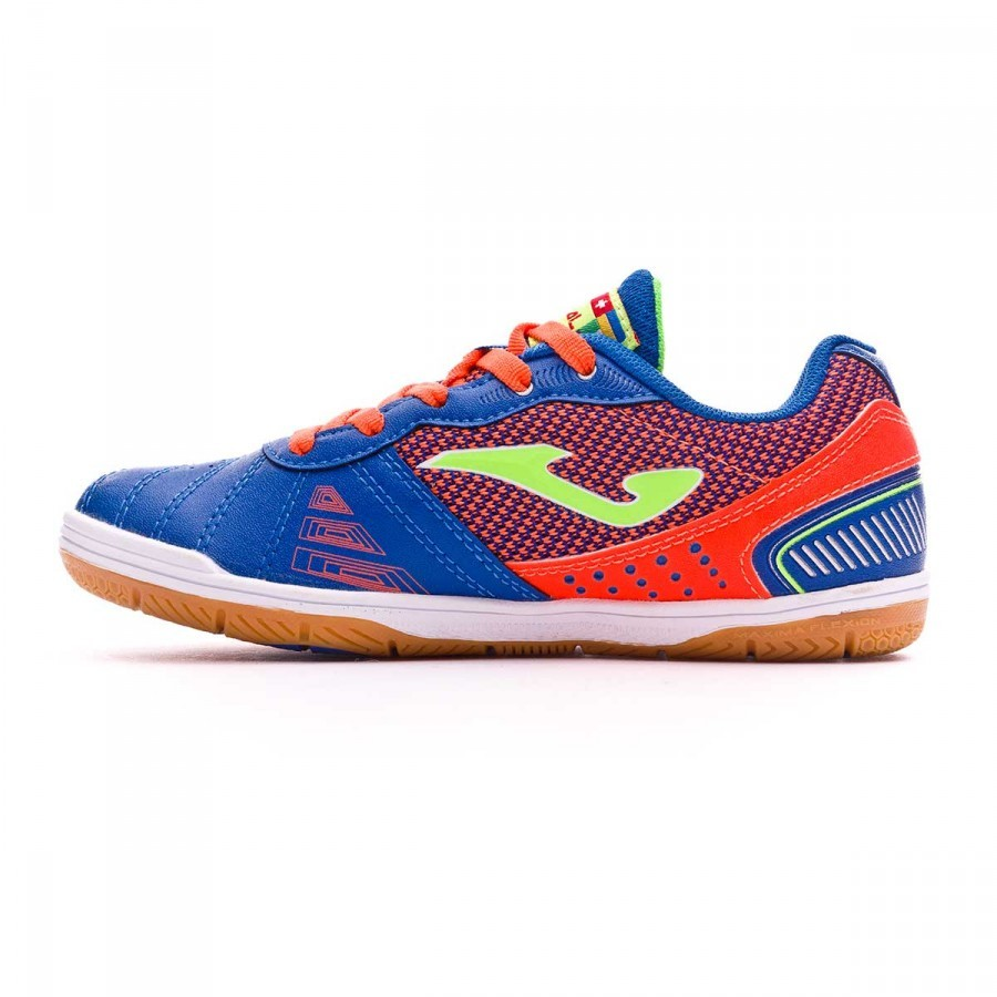 Joma Zapatilla de Fútbol Sala jr Mundial Blue-Orange Talla 5 USA KqhHgKZtb
