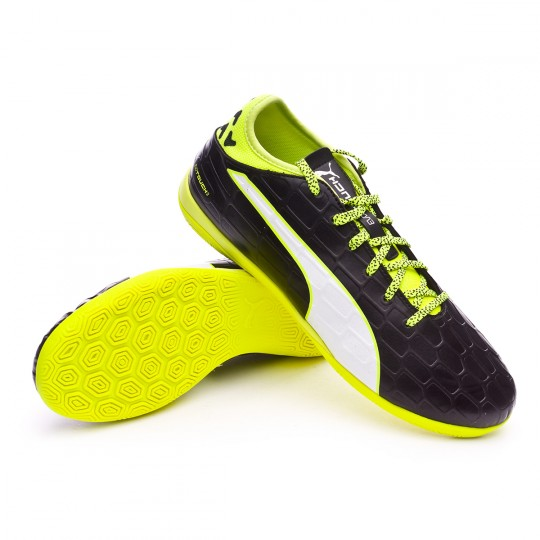 Chaussure de futsal  Puma EvoTouch 3 IT Black-White-Safety yellow