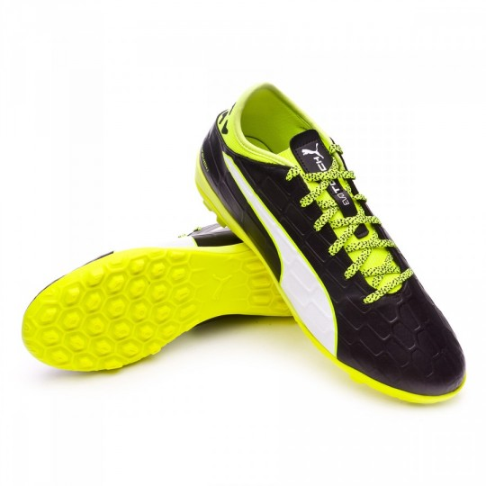Chaussure de futsal  Puma EvoTouch 3 TT Black-White-Safety yellow