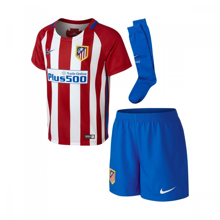 tenue nike jr atl tico de madrid domicile mini 2016 2017 varsity red white hyper cobalt. Black Bedroom Furniture Sets. Home Design Ideas