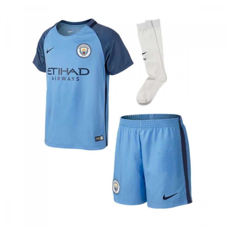 311aaa4fac10e Kit Nike Kids Manchester City FC Home 2016-2017 Field blue-Mifnight navy -  Football store Fútbol Emotion