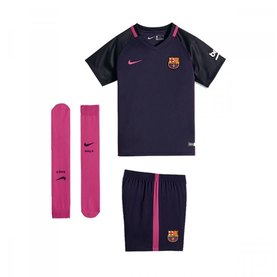 fcdb24b2f77fe Kit Nike Jr FC Barcelona Away 2016-2017 Purple dynasty-Black-Vivid ...
