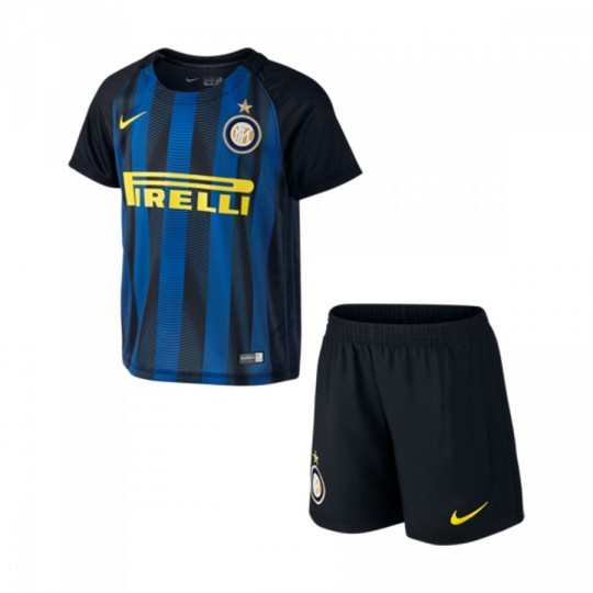 Conjunto  Nike jr Inter Milan Home 2016-2017 kid Black-Royal blue-Optical yellow