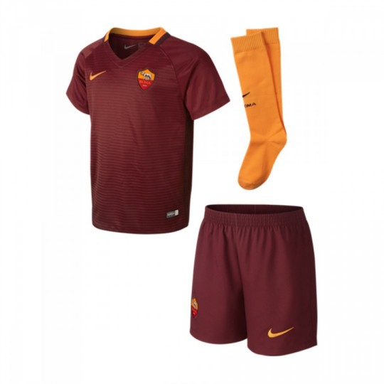 Conjunto  Nike jr AS Roma Home mini 2016-2017 Team red-Night maroon-Kumquat