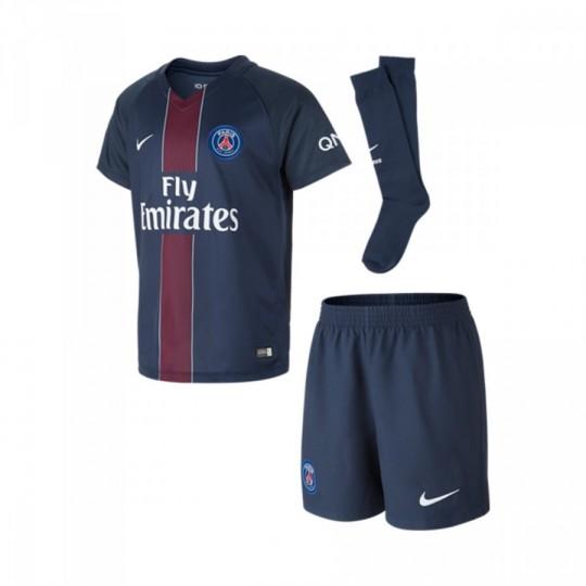 Conjunto  Nike jr Paris Saint-Germain Home 2016-2017 Midnight navy-Black-Challenge red-White