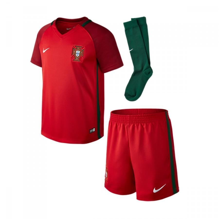 b93f2d7785 Conjunto Nike Portugal Primera Equipación 2016-2017 Niño Gym red-Gorge  green-White - Soloporteros es ahora Fútbol Emotion