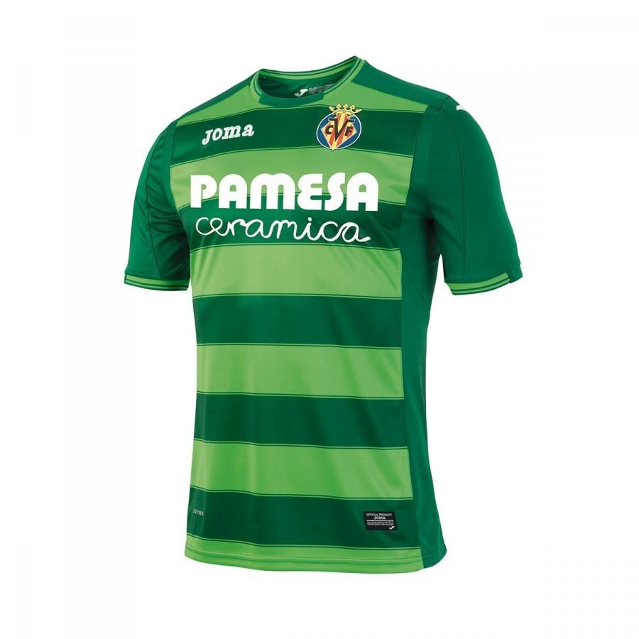 Camiseta Joma Villarreal CF Tercera Equipación 2016-2017 Verde ... 45576efd6d232