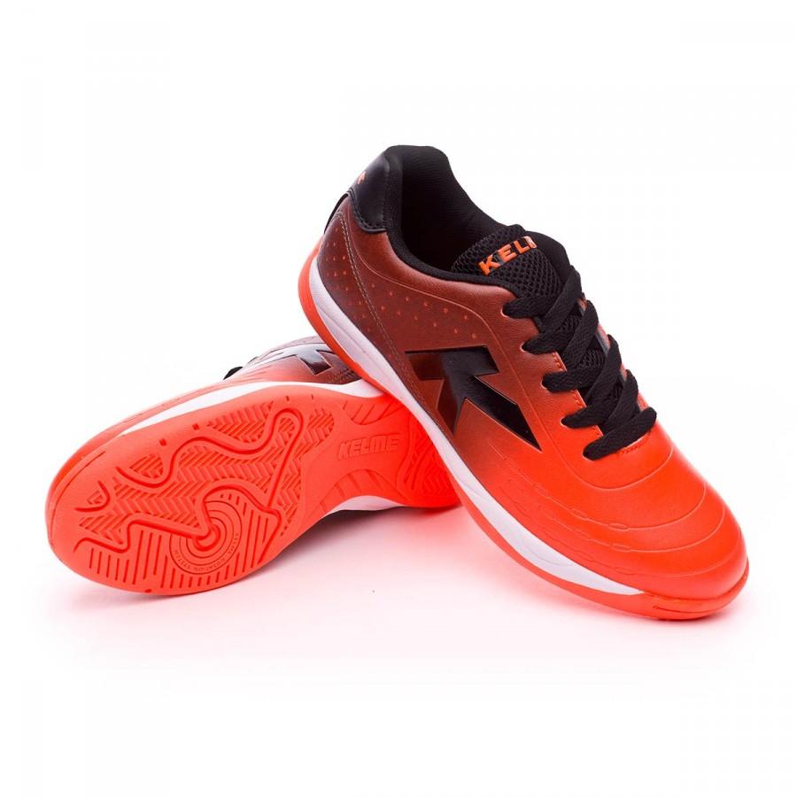 6d44dd618b893 Futsal Boot Kelme Kids K-Electric Goal Indoor Orange-Gray - Tienda ...