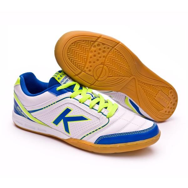 Sapatilha de Futsal Kelme K-Goleiro Indoor Branco - Loja de futebol Fútbol  Emotion 7d407d4c93cc8