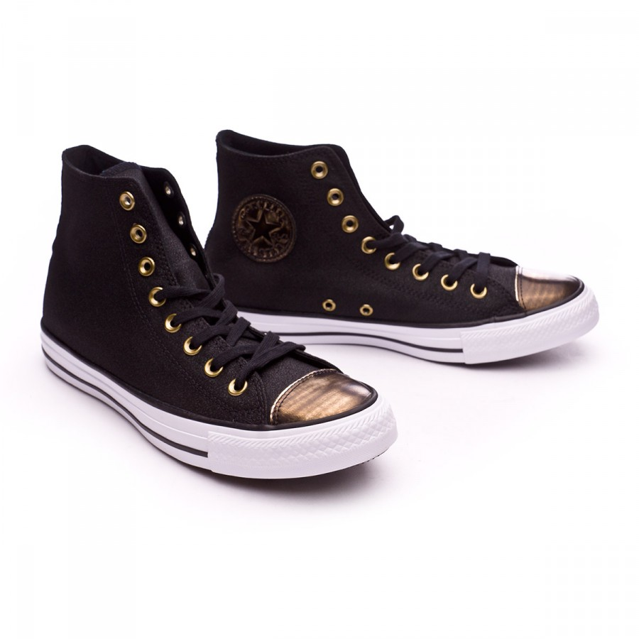all black converse with gold