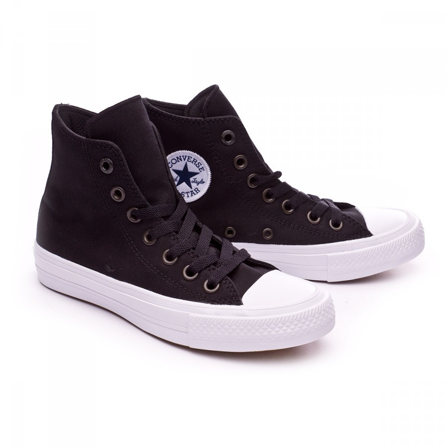 Trainers Converse Chuck Taylor All Star II High Black-White-Navy ... 1cb4cc9a5