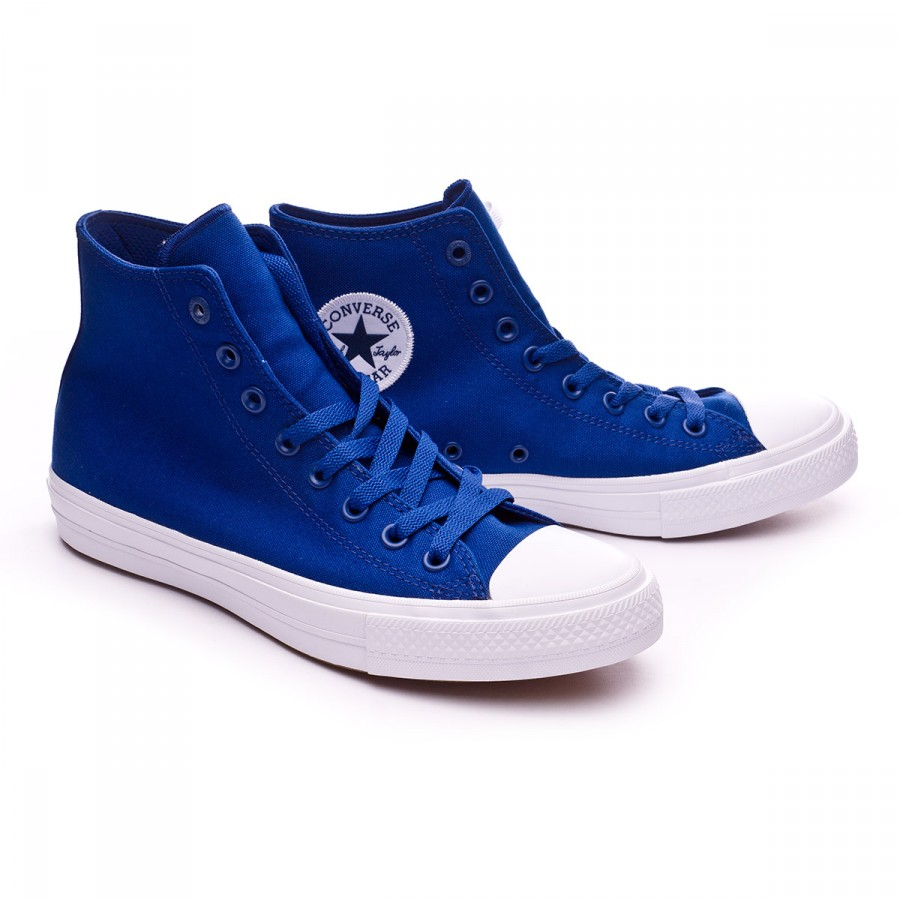 40e5d3fb4336 Converse Chuck Taylor All Star II Trainers. Sodalite Blue-White-Navy ...