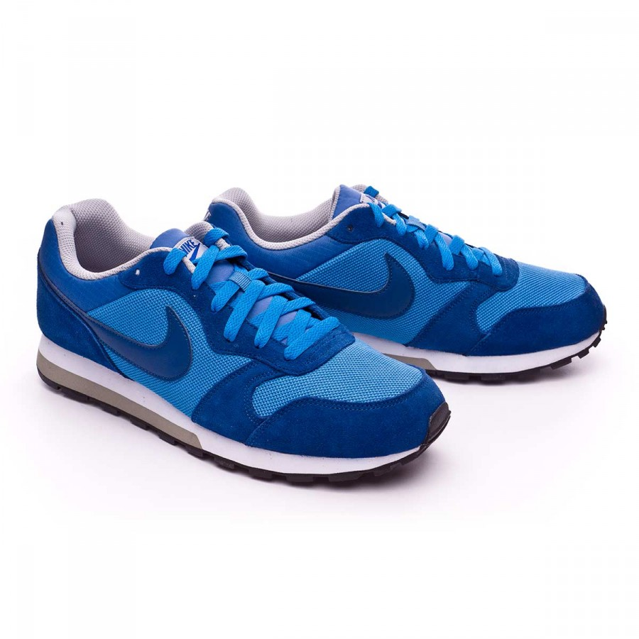 30d5f6c2886ee Trainers Nike MD Runner 2 Blue-Wolf grey-White - Football store ...