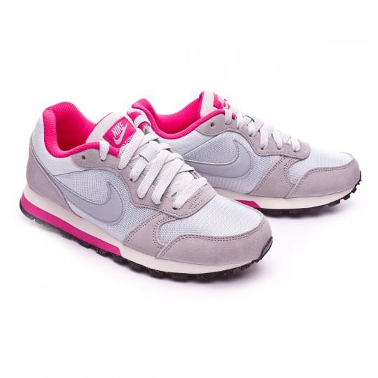 Zapatilla  Nike MD Runner 2 Mujer Pure platinum-Wolf grey-Vivid pink