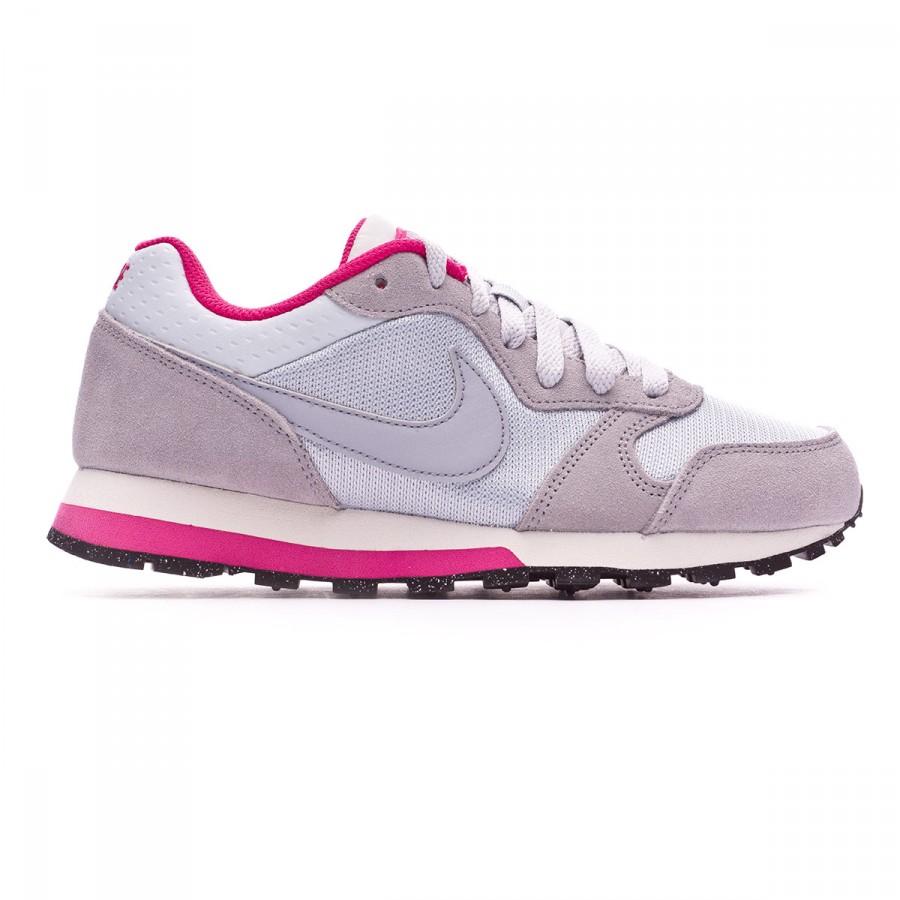 340e162e750af Trainers Nike MD Runner 2 Women Pure platinum-Wolf grey-Vivid pink - Tienda  de fútbol Fútbol Emotion