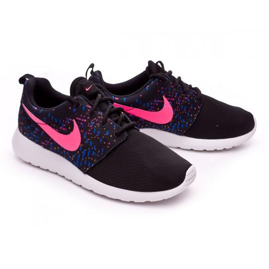Zapatilla  Nike Roshe One Print Mujer Black-Digital pink