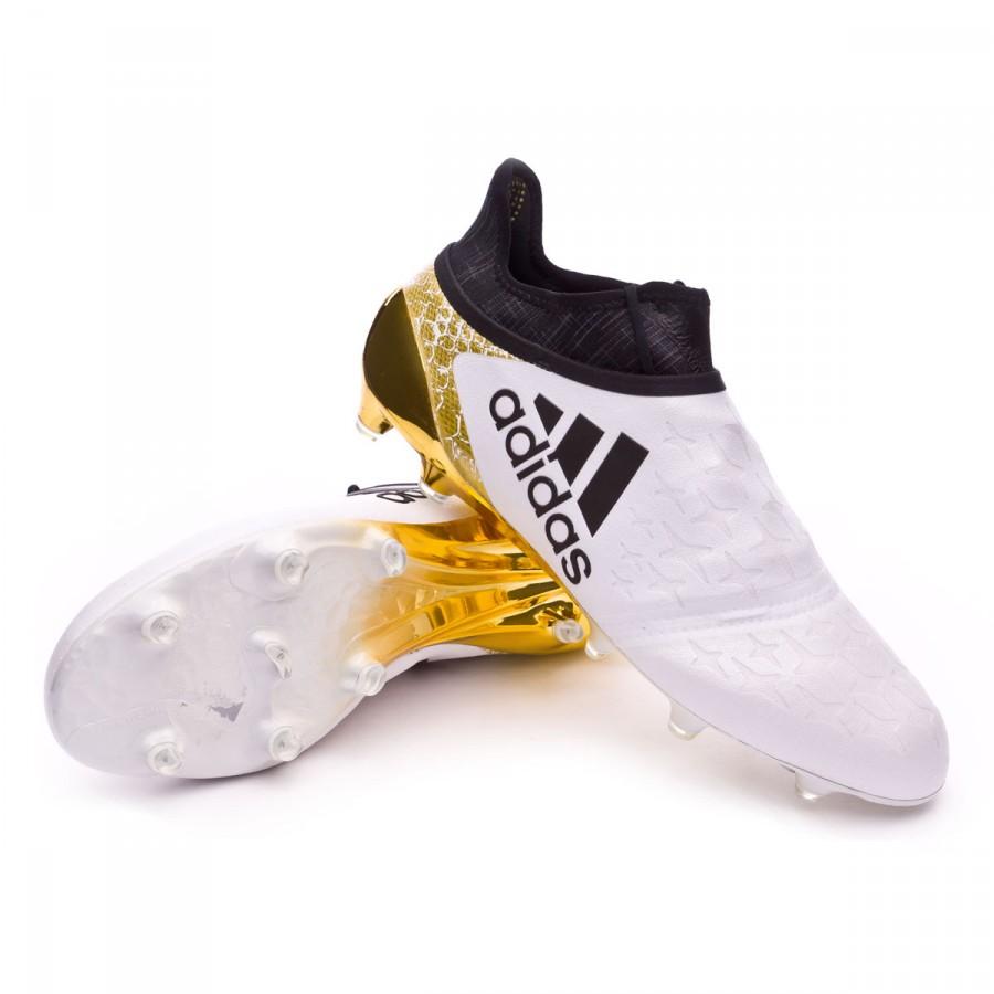 3eb797991b Chuteira adidas X 16+ Purechaos FG White-Core black-Gold metallic - Loja de  futebol Fútbol Emotion