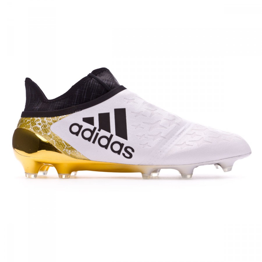 the best attitude 63809 07254 ... Bota X 16+ Purechaos FG White-Core black-Gold metallic. CATEGORY.  Football boots · adidas football boots
