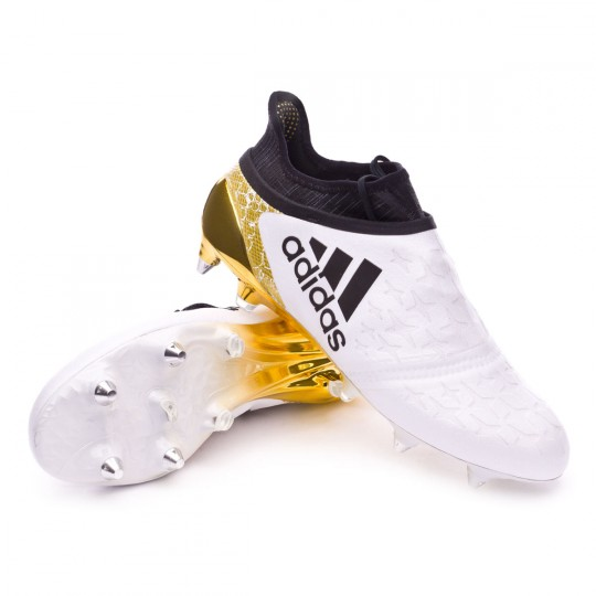 Chuteira  adidas X 16+ Purechaos SG White-Core black-Gold metallic