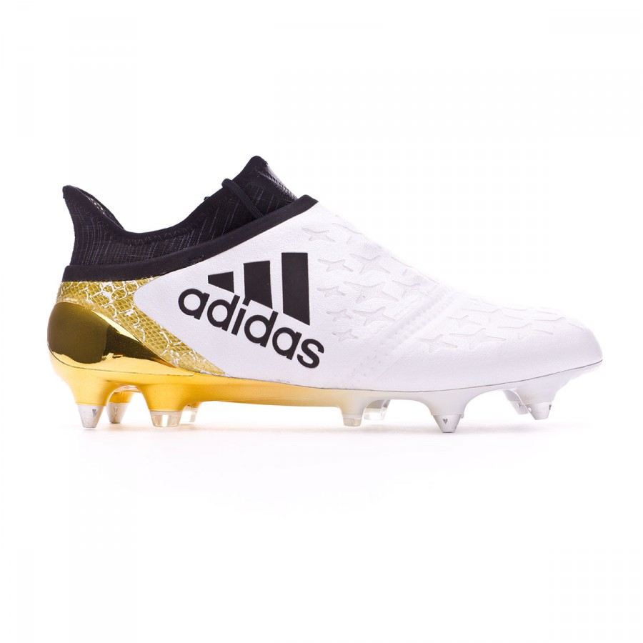 ce612fa33 Football Boots adidas X 16+ Purechaos SG White-Core black-Gold metallic -  Football store Fútbol Emotion