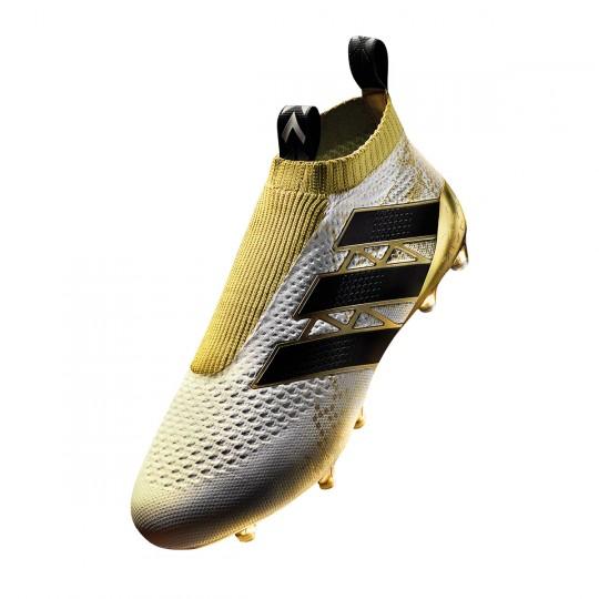 Bota  adidas ACE 16+ Purecontrol White-Core black-Gold metallic