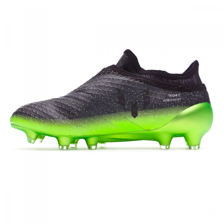 wholesale dealer 7f2e1 c36c5 ... Bota Messi 16+ Pureagility Niño Dark grey-Silver metallic-Solar green.  CATEGORY. Football boots · adidas football boots