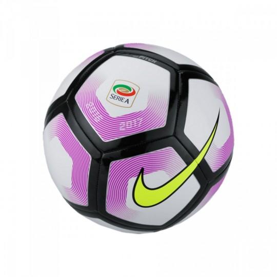 Balón  Nike Serie A Pitch Football 2016-2017 White-Black
