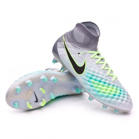 Chuteira  Nike Magista Obra II ACC FG Pure platinium-Black-Ghost green