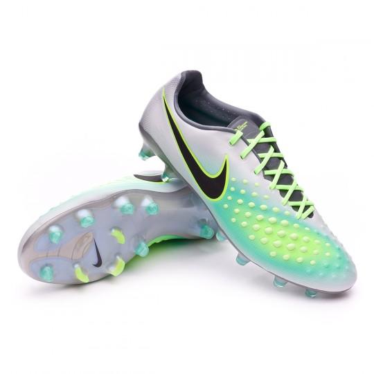 Chuteira  Nike Magista Opus II ACC FG Pure platinium-Black-Ghost green