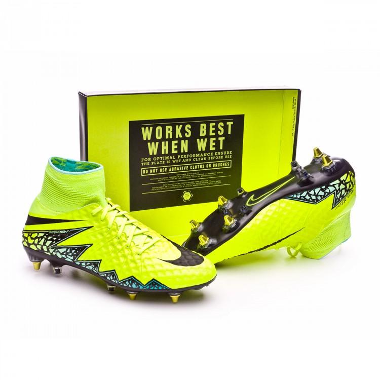 8e7e18f42c15 Bota de fútbol Nike HyperVenom Phantom II SG-Pro AntiClog Volt-Black ...