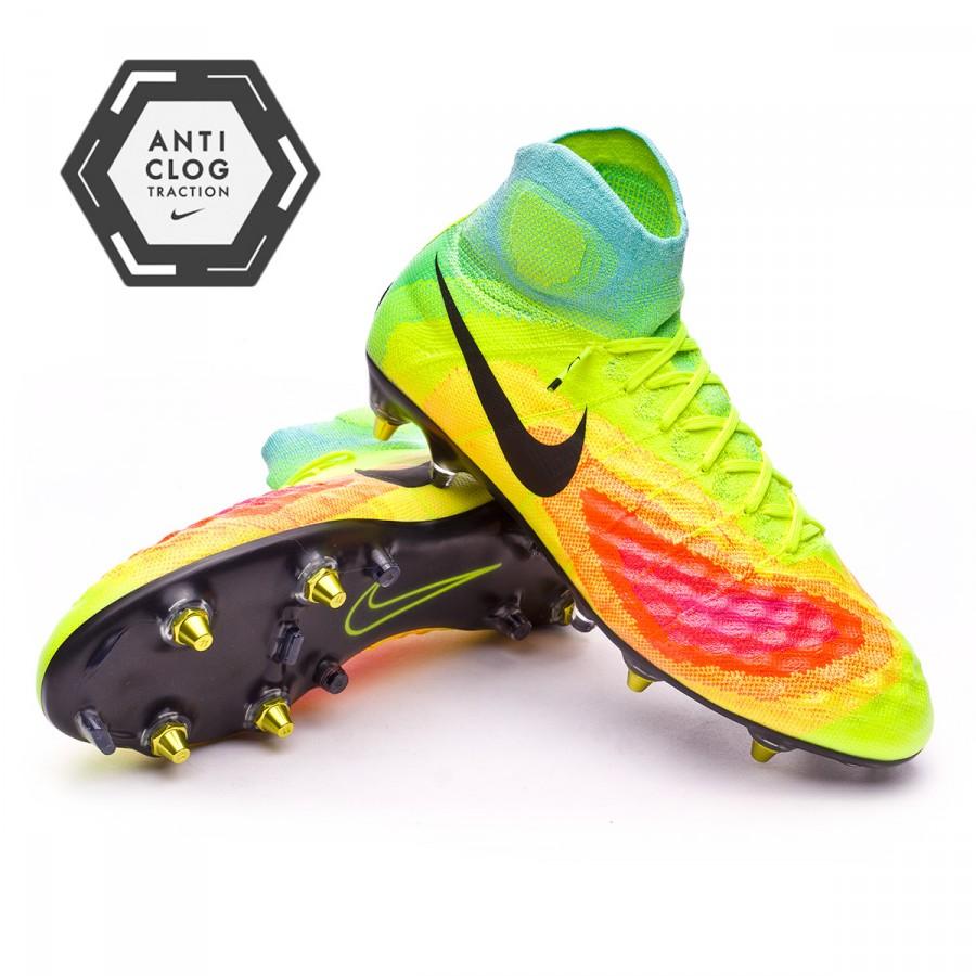 a62150d47 Football Boots Nike Magista Obra II ACC SG-Pro Anti-Clog Volt-Black-Total  orange-Pink blast - Football store Fútbol Emotion