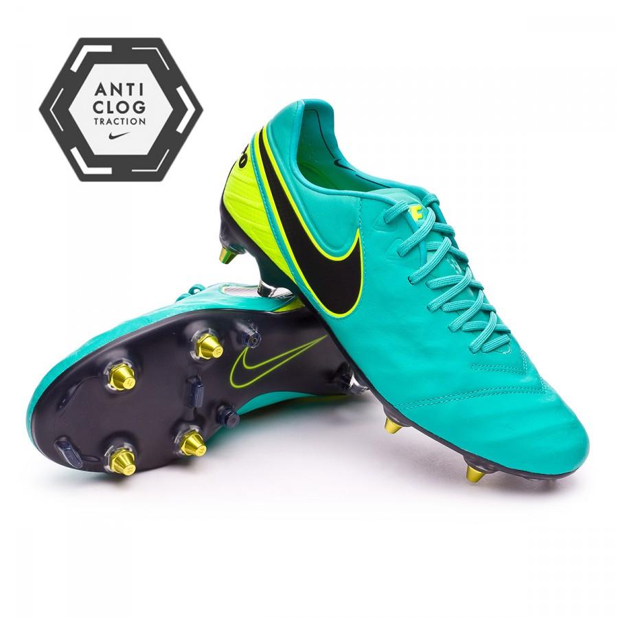 timeless design 7d34c c0237 ... soccer cleat black size mens 8.5 869483 denmark bota de fútbol nike  tiempo legend vi acc sg pro anti clog clear jade black ...