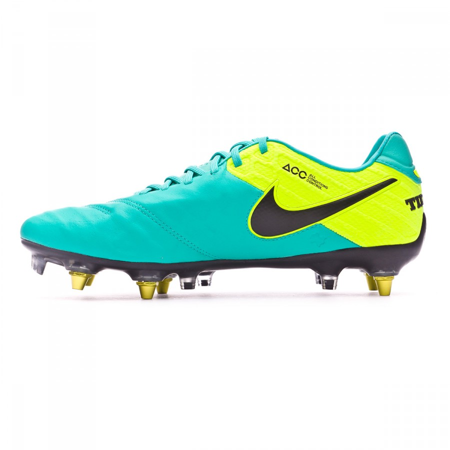 new product 21933 ccd7a Boot Nike Tiempo Legend VI ACC SG-Pro Anti-Clog Clear jade-Black-Volt -  Soloporteros es ahora Fútbol Emotion