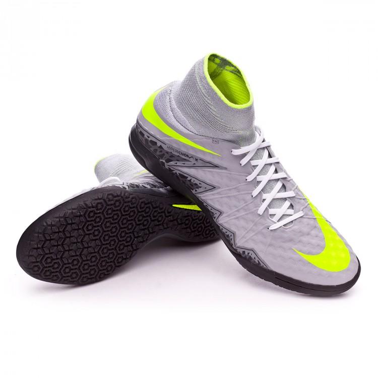 4b54d02b6d6c Futsal Boot Nike HyperVenomX Proximo IC Wolf grey-Volt-Stealth ...
