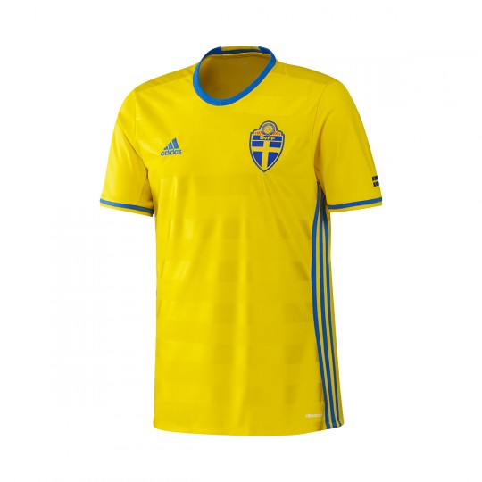 Camiseta  adidas Suecia Home 2016-2017 Yellow-Blue