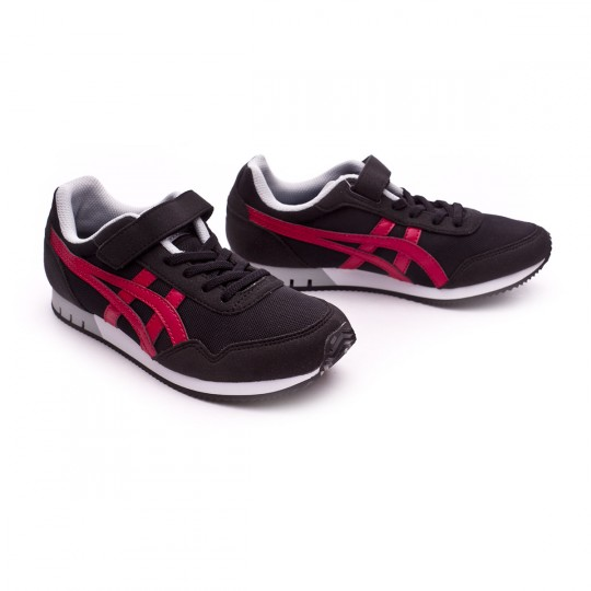 Zapatilla  Asics Curreo PS Niño Black-Burgundy