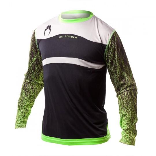 Camiseta  HO Soccer Jersey Infinity Black-Green fluor-Stone grey