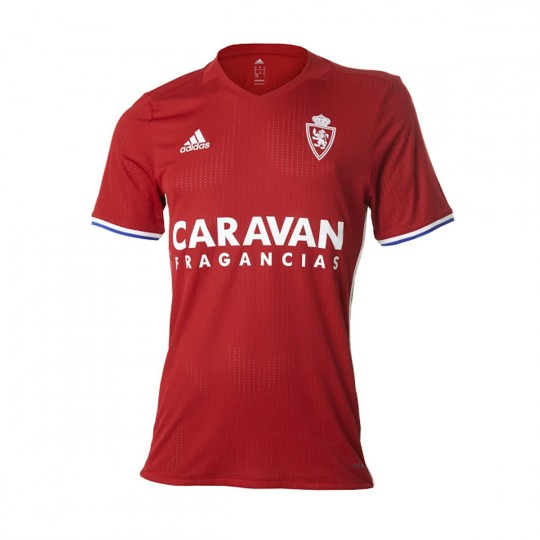 Camisola  adidas Real Zaragoza 3ª Equipación 2016-2017 Power red-Bold blue-White