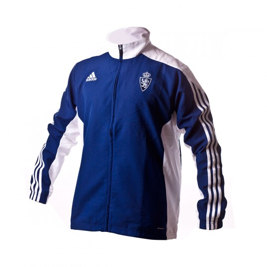 Chaqueta  adidas Real Zaragoza 2016-2017 Dark blue-White