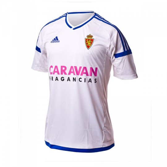 Camiseta  adidas jr Real Zaragoza Home 2016-2017 White-Bold blue