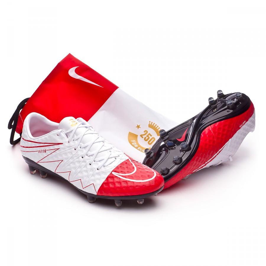 f06927014e Zapatos de fútbol Nike HyperVenom Phinish II SE Rooney FG White-University  red-Metallic gold coin - Tienda de fútbol Fútbol Emotion