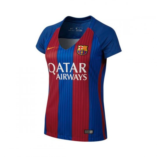 Camiseta  Nike FC Barcelona Home Stadium Mujer 2016-2017 Royal blue-Gym red