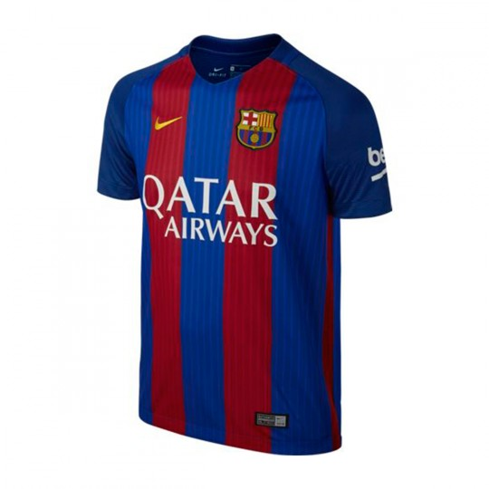 Camiseta  Nike jr FC Barcelona Home Stadium Top 2016-2017 Sport royal-Gym red-University gold