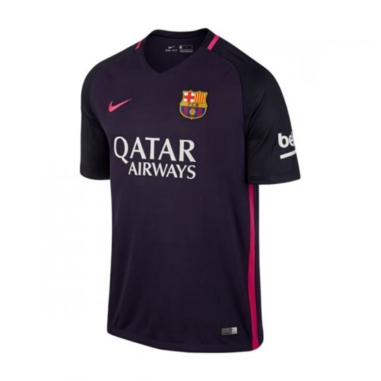 Camiseta  Nike FC Barcelona Away Stadium 2016-2017 Purple dynasty-Black-Vivid pink