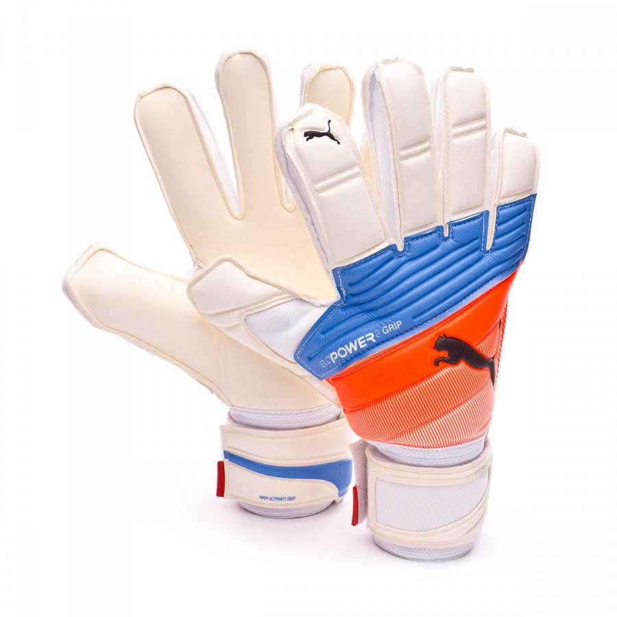 Glove Puma evoPOWER Grip 2.3 RC Puma white-Blue yonder-Shocking ... 521c39c2167c