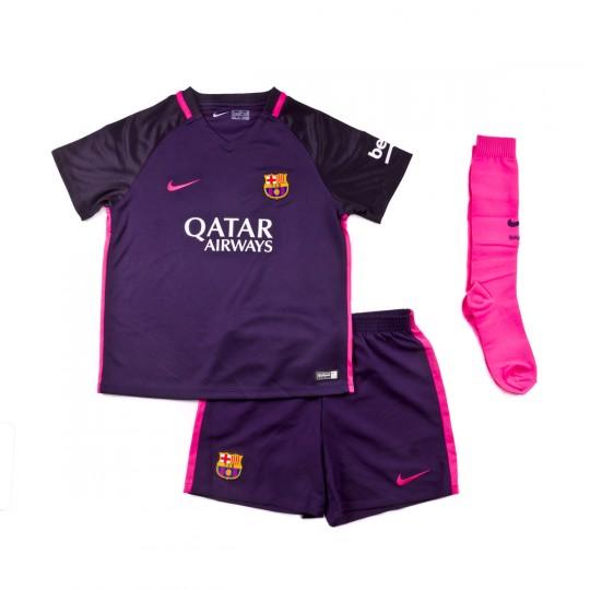 Conjunto  Nike jr FC Barcelona Away Minikit 2016-2017 Purple dynasty-Black-Vivid pink